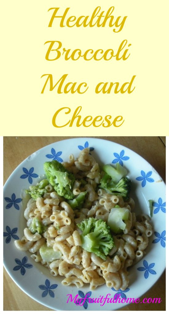 healthy broccoli mac and cheese
