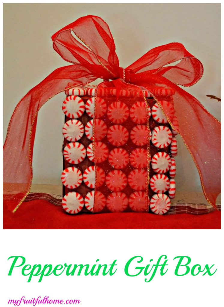 peppermint gift box decoration