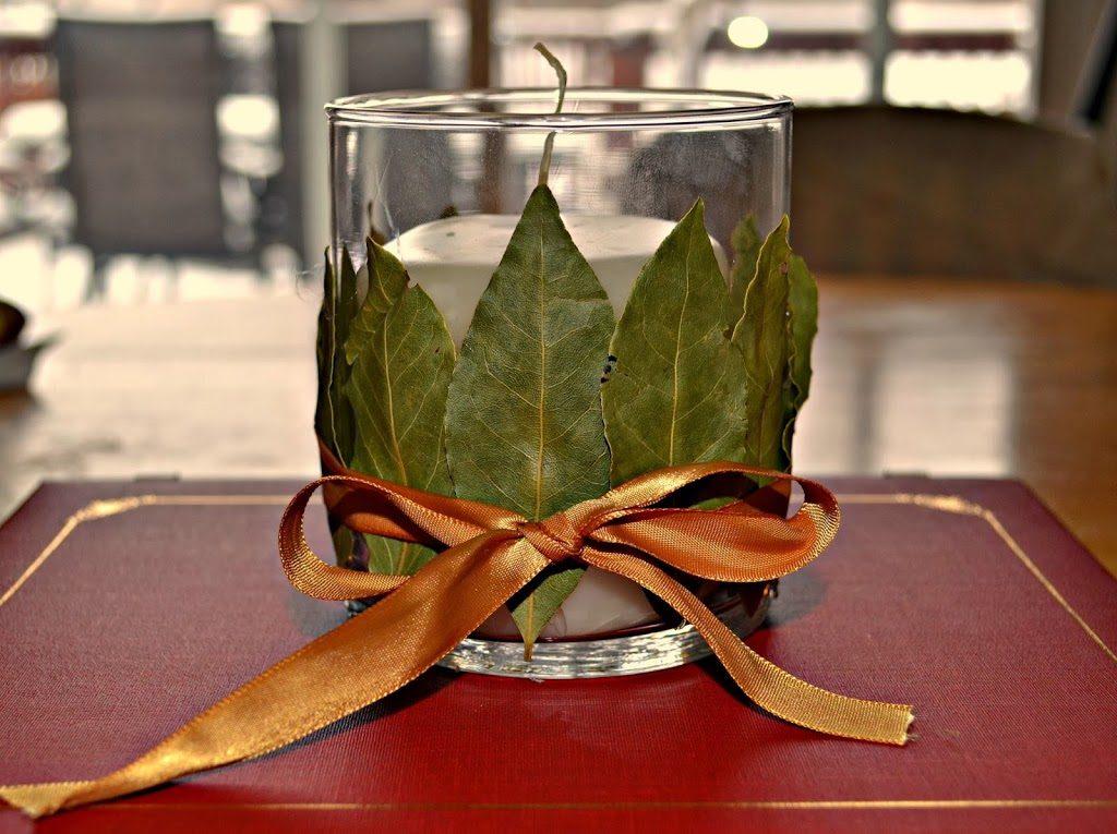 Diy Bay Leaf Candle Holder