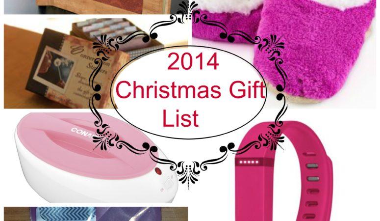 2014 Christmas Gift List