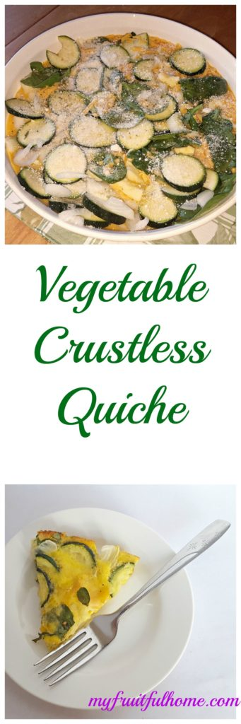vegetable crutless quiche