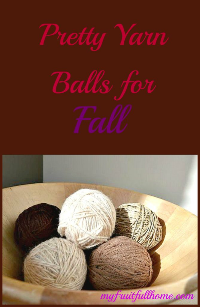 fall colored yarn balls
