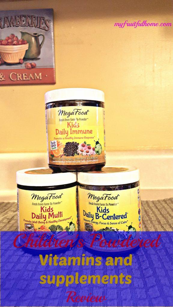 children's powdered vitamins and supplements