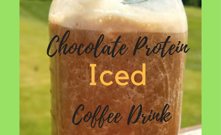 Chocolate Protein Iced Coffee Drink Recipe